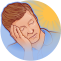 Excessive daytime sleepiness in narcolepsy icon