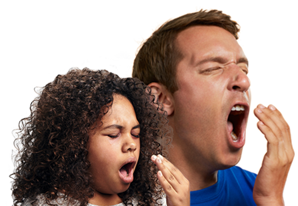 person yawning narcolepsy